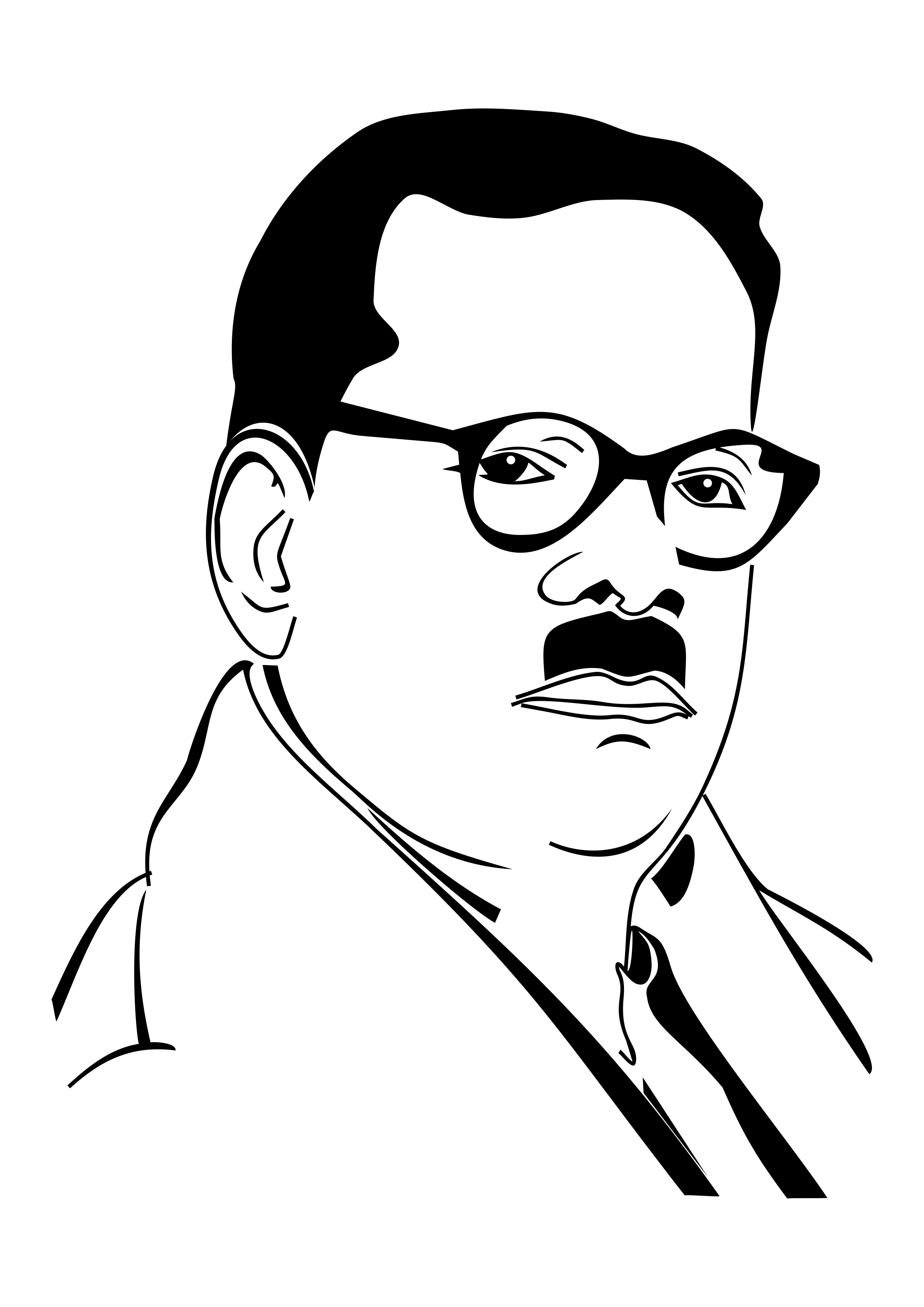 Free Vectors - People - Download free - Tamil Poet Bharathidasan Vector Image